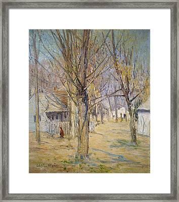 Connecticut Village  Framed Print by Julian Alden Weir