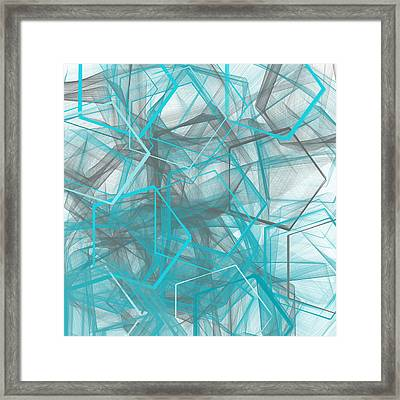 Connecting Angles Framed Print
