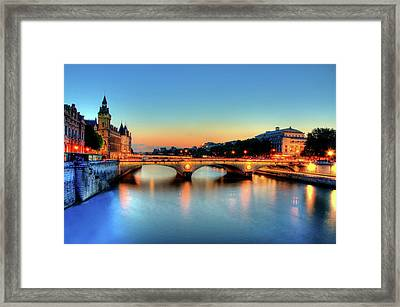 Connecting Bridge Framed Print by Romain Villa Photographe