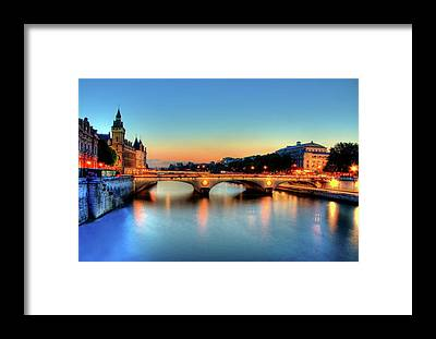 Seine River Framed Prints