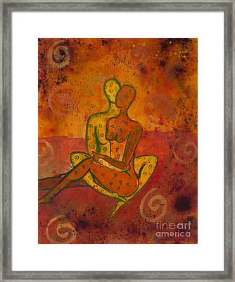 Connection Divine Love Series No. 1001 Framed Print by Ilisa Millermoon