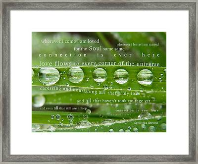 Connection Is Ever Here Framed Print