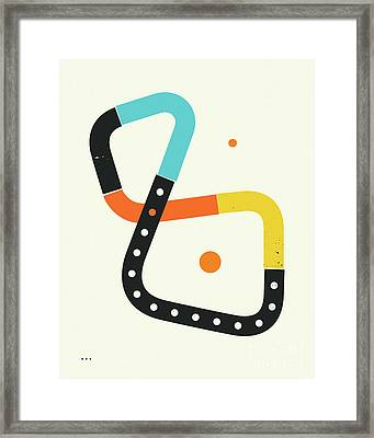 Connections 12 Framed Print by Jazzberry Blue
