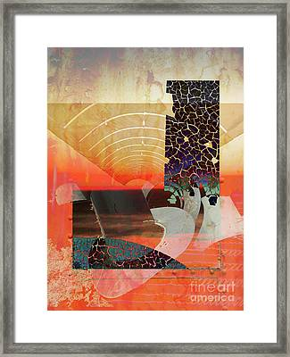 Connections In Space Framed Print by Robert Ball