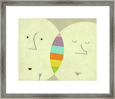 Connections Framed Print by Jazzberry Blue