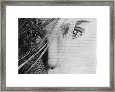 Connelly's Eyes Framed Print by Ted Castor