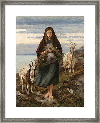 Connemara Girl Framed Print