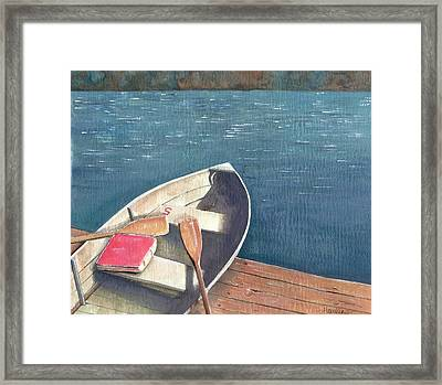 Connetquot Park Row Boat Framed Print