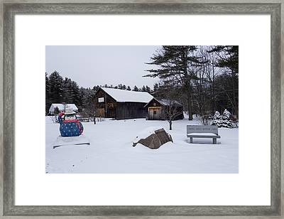 Connie Davis Watson Park In Conway New Hampshire Framed Print by Toby McGuire