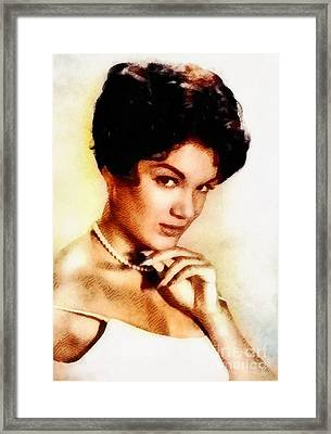 Connie Francis, Music Legend By John Springfield Framed Print by John Springfield