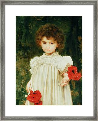 Connie Framed Print by William Clark Wontner