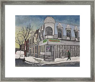 Connie's Pizza Psc Framed Print by Reb Frost