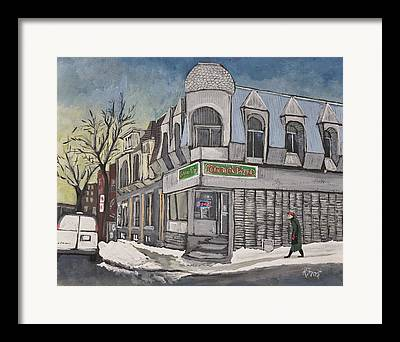 Pizza Places Framed Prints