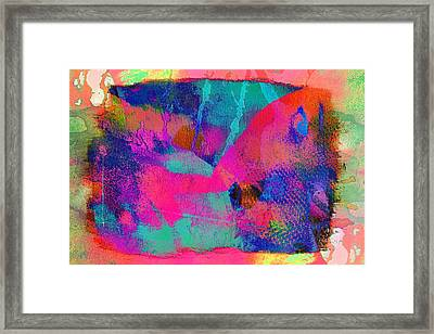 Connivance,just Another Texture Framed Print