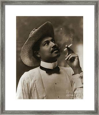 Framed Print featuring the photograph Connoisseur 1899 by Padre Art