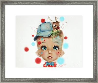 Connor - Elf  Framed Print by Sheena Pike