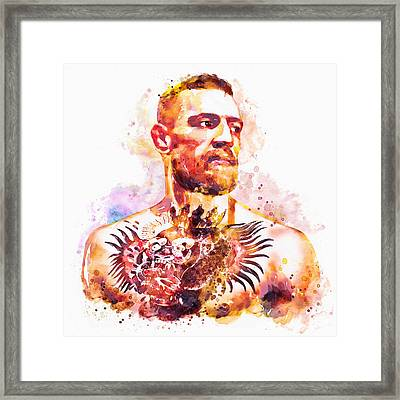Conor Mcgregor Framed Print by Marian Voicu
