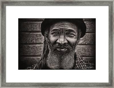 Conrad - Charcoal Drawing Framed Print