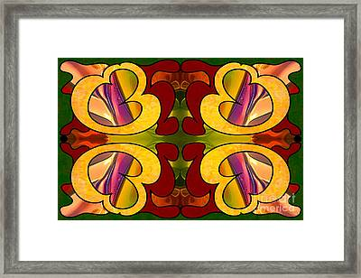 Conscious Cooperations Abstract Art By Omashte Framed Print by Omaste Witkowski
