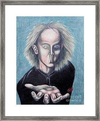 Framed Print featuring the drawing Consciousness by Michael  TMAD Finney