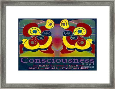 Consciousness Motivational Art By Omashte Framed Print