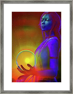 Framed Print featuring the digital art Consciousness by Shadowlea Is