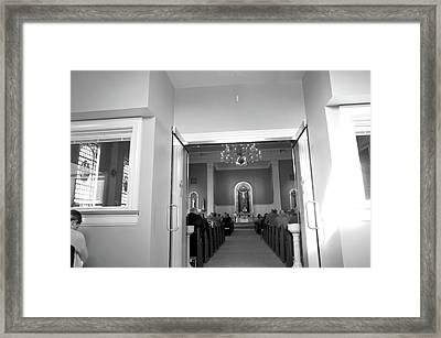 Framed Print featuring the photograph Lenten Sunday Mass Consecration by Jeanette O'Toole