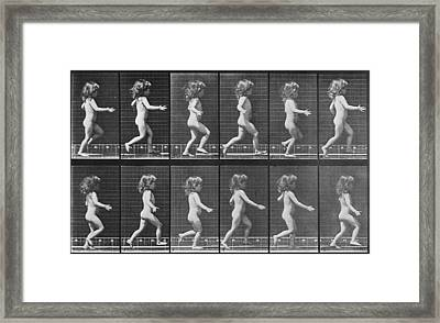 Consecutive Images Of A Little Nude Framed Print