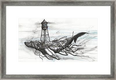 Conservation Reserve For Whale In Peril Framed Print by Tai Taeoalii