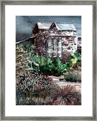 Conservatory Gardens In Scotland Framed Print by Mindy Newman