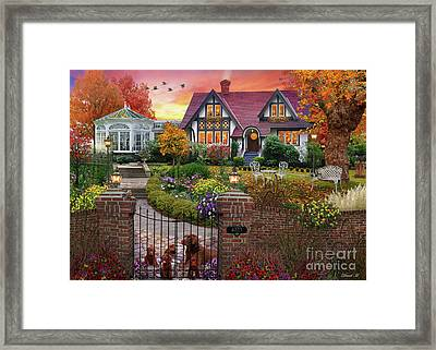 Conservatory House  Framed Print by MGL Meiklejohn Graphics Licensing