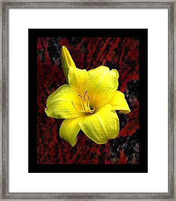 Consider The Lily Framed Print by EGiclee Digital Prints