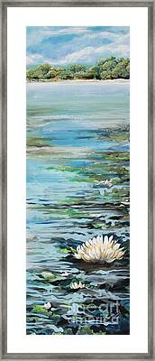 Considering Lily Framed Print by Michele Hollister - for Nancy Asbell