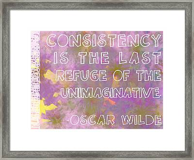 Consistency Framed Print by Abbey Hughes
