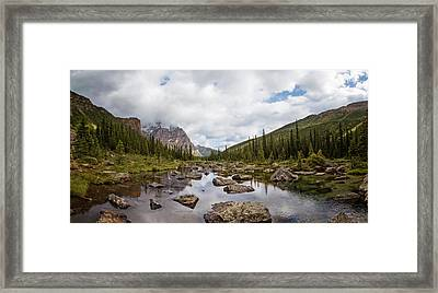 Consolation Lake Banff Framed Print by Joan Carroll