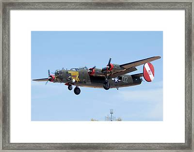 Consolidated B-24j Liberator N224j Witchcraft Deer Valley Airport Arizona April 20 2011  Framed Print