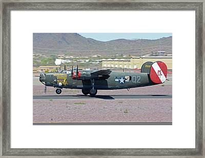 Framed Print featuring the photograph Consolidated B-24j Liberator N224j Witchcraft Deer Valley Arizona April 13 2016 by Brian Lockett