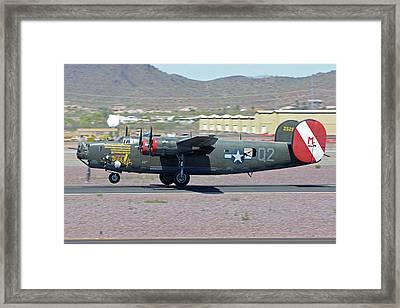 Consolidated B-24j Liberator N224j Witchcraft Deer Valley Arizona April 13 2016 Framed Print by Brian Lockett