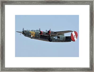 Framed Print featuring the photograph Consolidated B-24j Liberator N224j Witchcraft Phoenix-mesa Gateway Airport Arizona April 15 2016 by Brian Lockett