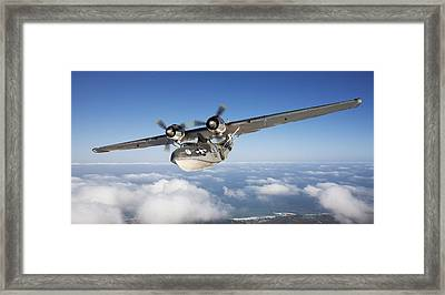Consolidated Pby Catalina Framed Print by Larry McManus