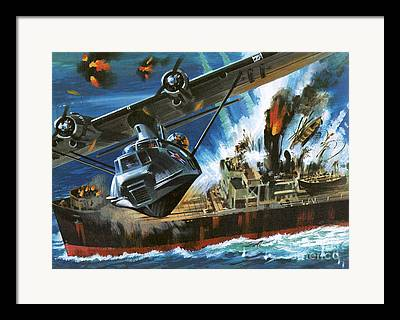 Pby Catalina Framed Prints
