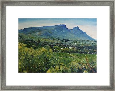 Constantia Valley Cape Town South Africa 2017 Framed Print