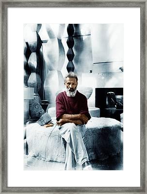 Constantin Brancusi Framed Print by Cosmin-Constantin Gheorghe