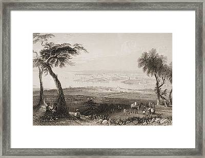 Constantinople From Above Scutari Framed Print by Vintage Design Pics