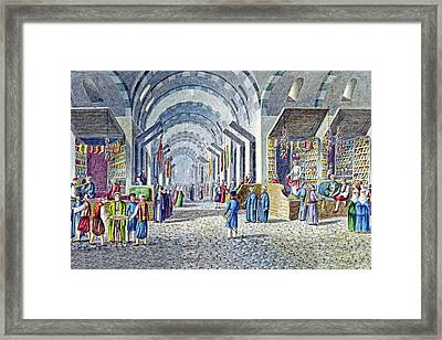 Constantinople Indoor Bazaar Framed Print by Munir Alawi
