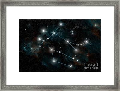 Constellation Of Gemini Framed Print