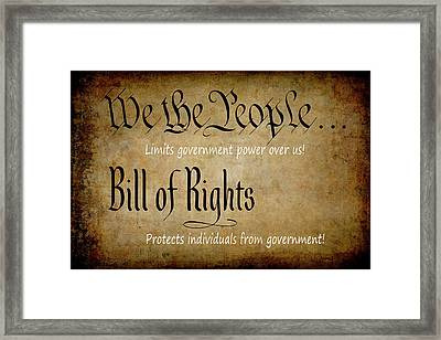 Constitution And Bill Of Rights Themes Framed Print
