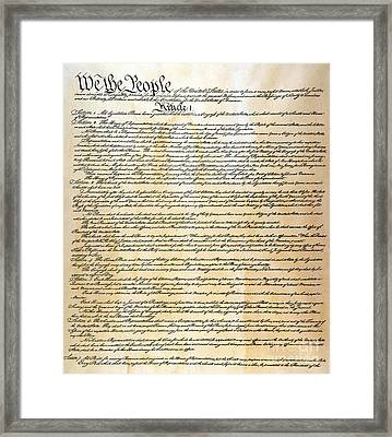 Constitution Framed Print by Granger