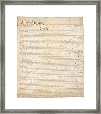 Constitution Of The United States Framed Print