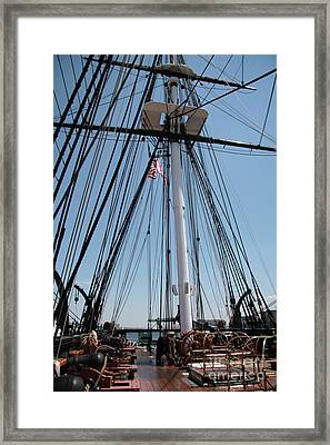 Constitution's Deck Framed Print